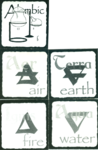 image of first printed element cards